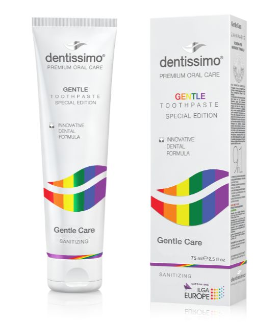 Zubní pasta Dentissimo Gentle Care Rainbow